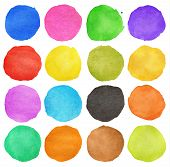 Colorful Watercolor Hand Painted Circle