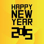 a yellow background with a happy new year message