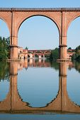 Bridge In Albi And Its Reflection, France