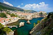 Dubrovnik Old City Walls In Croatia