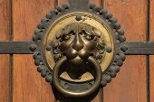 picture of leipzig  - Knocker at a door of St Thomas Church  - JPG