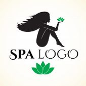 Logo for spa or beauty salon with woman
