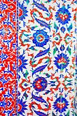 Iznik Tile Colorful Ornamental Details
