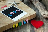 Love Family Message On Blank Instant Photo