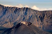 foto of gunung  - Steam rising from a vent on Gunung Barujari in the caldera of Mount Rinjani - JPG