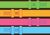 Infographic Layout Design With Horizontal Colorful Strips
