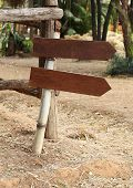 Old Wooden Arrows Sign