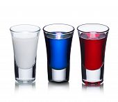Russian flag cocktail