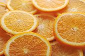 Background Made Of Juicy Oranges