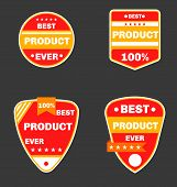 Red Product Badges, 4 Pieces