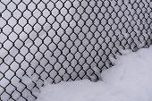 Steel Mesh Fence Snow