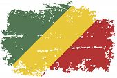 Congo grunge flag. Vector illustration.
