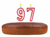 Birthday Cake Candles Number 97 Isolated