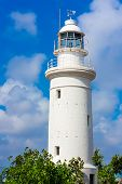 Ancient lighthouse and blue sky, Paphos, Cyprus