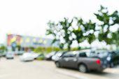 Blurred Car Park