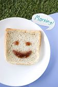Smiley Bread Say Morning