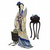 Japan Female Art Paint | Isolated