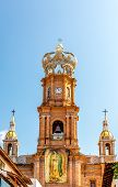 picture of guadalupe  - Our Lady of Guadalupe Cathedral Puerto Vallarta Mexico - JPG