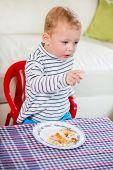 Eating baby boy