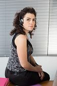 Businesswoman In The Office On The Phone, Headset