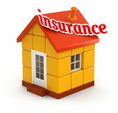 House and Insurance (clipping path included)
