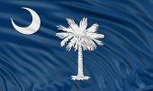 3D South Carolina Flag