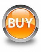 Buy Glossy Orange Round Button