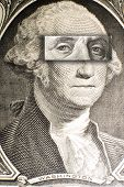 Portrait Of Washington With Franklin Eyes Of Us Banknotes