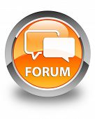 Forum Glossy Orange Round Button