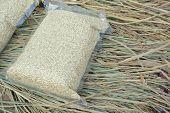 Rice In Vacuum Plastic Bag