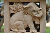 Elephant statues delicate and beautifu