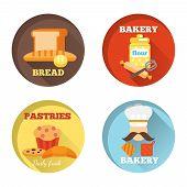 Bakery decorative icons