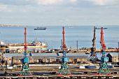 The Port Of Baku, Azerbaijan, Caspian Sea
