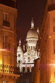 Montmartre, Night View Of The Sacré Coeur Boulevard Rochechouart