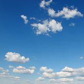 white cloud on blue sky