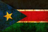 Grunge of South Sudan flag