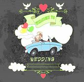 Groom And Bride Car Black