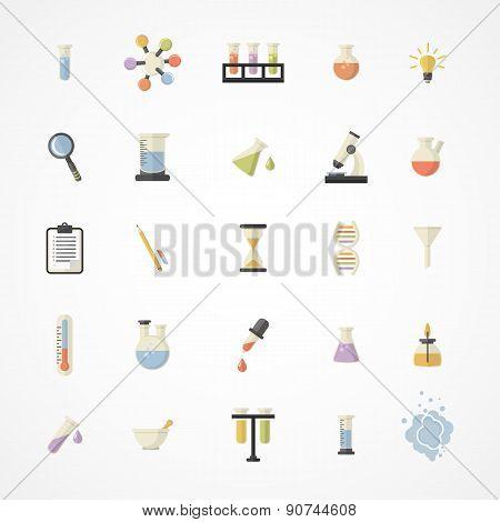 Постер, плакат: Vector Science Web Icons, холст на подрамнике