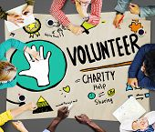 image of charity relief work  - Volunteer Charity Help Sharing Giving Donate Assisting Concept - JPG
