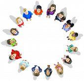 picture of innocent  - Diversity Innocence Children Friendship Aspiration Concept - JPG