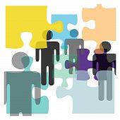 People Complex Problem Solution Mind Puzzle Confusion