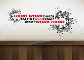 picture of hard-on  - Hard work beats talent when talent doesn - JPG
