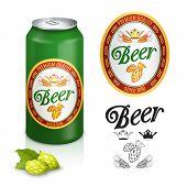 Постер, плакат: Premium beer label design