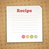 image of recipe card  - Blank Recipe Card Template - JPG