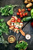 pic of barbecue grill  - BBQ barbecue ingredients - JPG