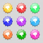 foto of dislike  - Dislike Thumb down icon sign - JPG