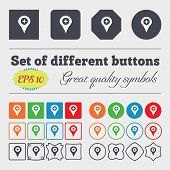 picture of gps  - Plus Map pointer GPS location icon sign Big set of colorful diverse high - JPG