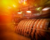 foto of fragmentation  - fragments of old industrial equipment blurred background - JPG