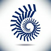 picture of fibonacci  - Nautilus Image with a Simple Blue Background  for Print or Web - JPG