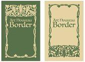 picture of art nouveau  - A decorative floral border in the style of Art Nouveau - JPG